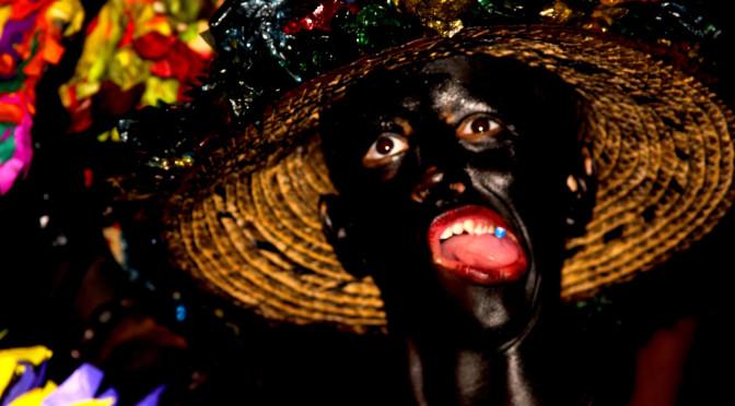 disfraz, carnaval, negro, pintura, locura,