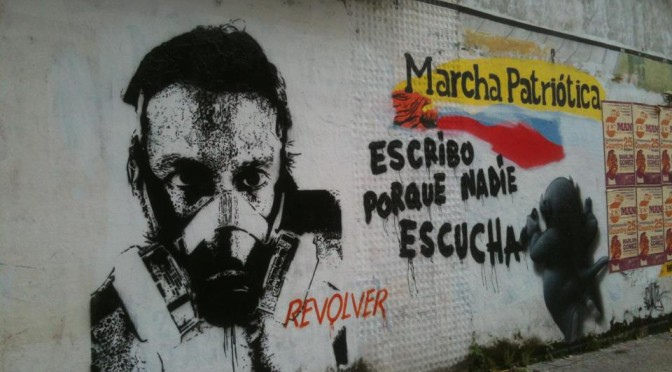 escribo porque no me escuchan, graffiti en Barranquilla